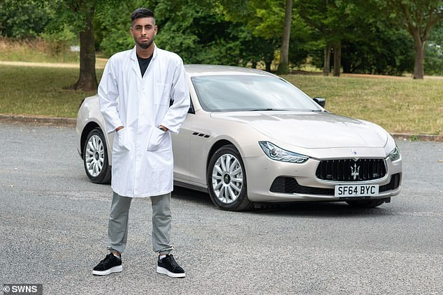 During the past year the student says he has also bought and sold an Audi A5, an Audi A1, and a £10,000 BMW 7 Series and a 6 Series