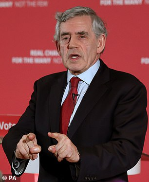 Liberty, tolerance, fair play. They are the values which define Britain, according to Labour's last Prime Minister, Gordon Brown