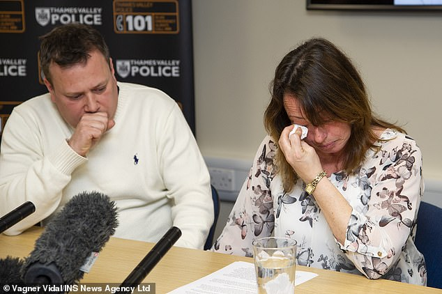 Miss Croucher's parents John and Claire Croucher held an emotional press conference in February appealing for information. John has now confirmed their son's death