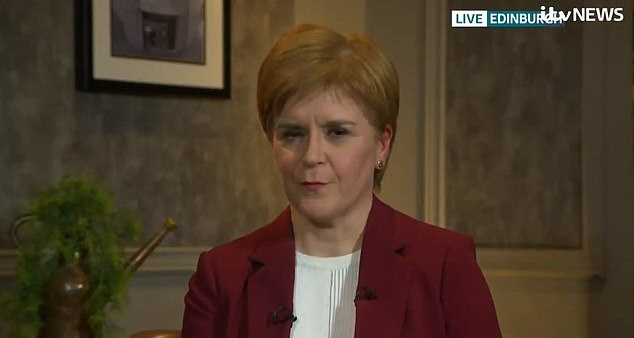 In an ITV interview, Nicola Sturgeon laughed off Jeremy Corbyn's suggestion that a referendum should not in the 'early years' of the next Parliament, saying: 'I drive a hard bargain.'