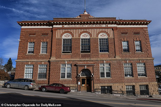 Teller County Court House where Frazee is being tried for the murder of his fiancee