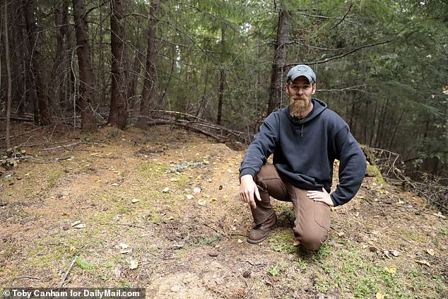 Hunter and land surveyor Jes Smith, 36, told DailyMailTV, 'No local would go down there' as its too dangerous to drive on