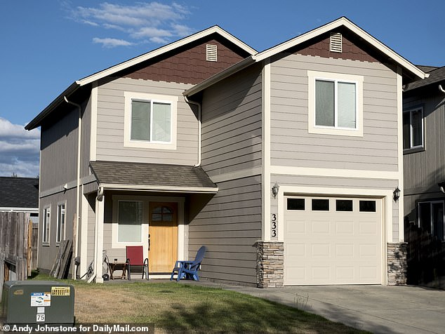 Neighbors living close to his $239,000 rented home in Grants Pass (pictured) described him as 'a lovely guy' who was never seen without his pug