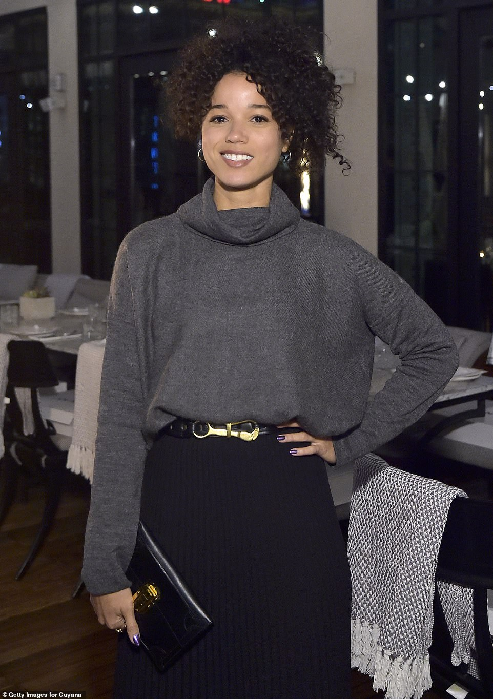 Rising star: Alisha is best known for a string of TV roles, including a major part on the Netflix series Raising Dion, though she's now making a break into film with her Palmer role [shown October 30]