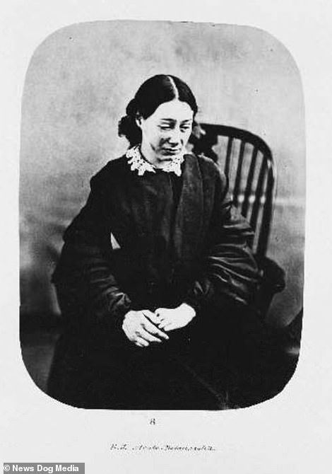 Before shot of Eliza Josolyne, when she was admitted to Bedlam Asylum, London, in February 1857 and diagnosed with acute melancholia