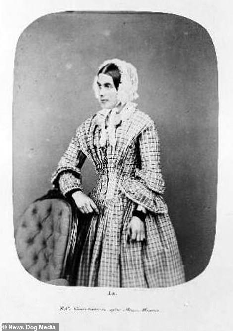After shot of Eliza Camplin, taken after her treatment at Bedlam Asylum, London, 1857