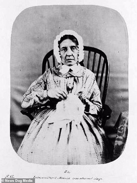 After shot of a patient known as S.G, taken after her treatment at Bedlam Asylum