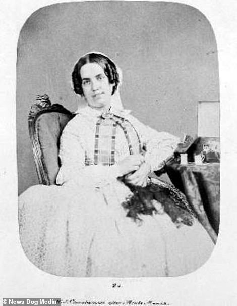 After shot of Harriet Jordan, taken in October 1858, a few months after being admitted to Bedlam