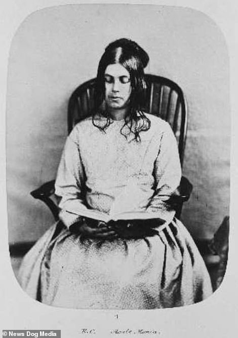 Before shot of Eliza Camplin admitted in 1857, suffering from acute mania