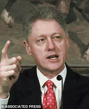 It even eclipsed President Clinton telling the American people in 1998: 'I did not have sexual relations with that woman, Miss Lewinsky'