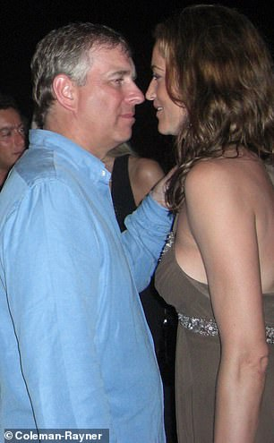 He is seen accompanied by Canadian socialite Pascale Bourbeau at a party in Saint-Tropez, France, in July 2007