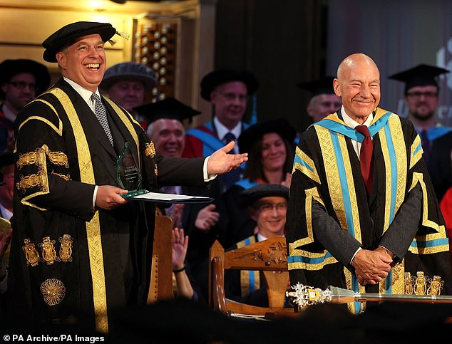 The Duke of York replaced Sir Patrick Stewart as chancellor of the University of Huddersfield in 2015 and the university is one of the few organisations to publicly back him after his BBC disaster