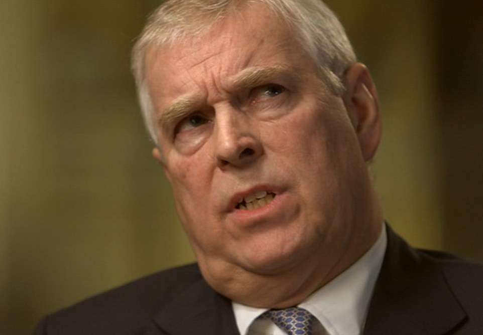 Prince Andrew can be seen responding to Emily Maitlis during his Newsnight interview that aired on Sunday night. The prince vigorously denied staying overnight at the home of billionaire paedophile Jeffrey Epstein during a visit to New York in April, 2001