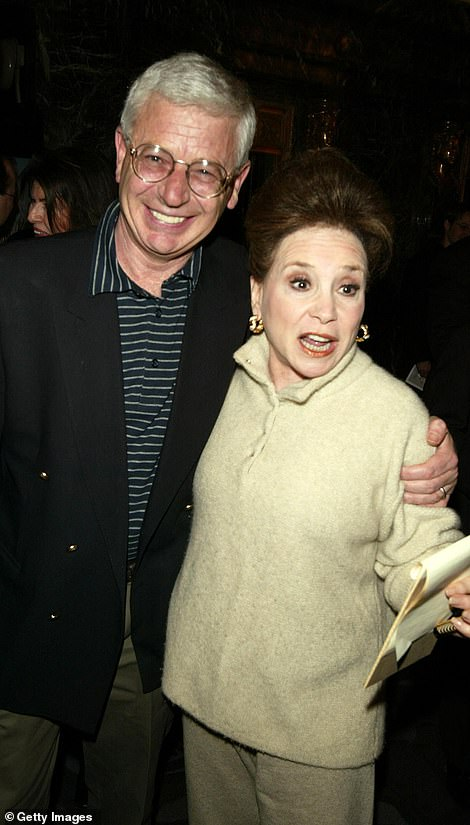 Columnist Cindy Adams, right, and Sir Thomas Harris can be seen attending the East Coast BAFTAs in 2004. Sir Thomas, 74, admitted he no longer had a copy of his 2001 diary, so was unable to be certain about comings and goings that occurred at his official residence, an apartment just off Central Park, 18 years ago
