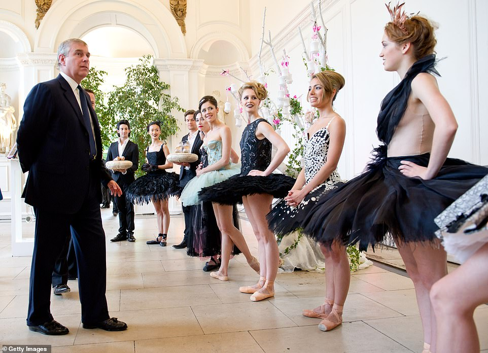 The Duke of York is a patron of the English National Ballet (pictured at the 2011 summer party) but his withdrawal from public life means that all of his 200 charities will need new patrons