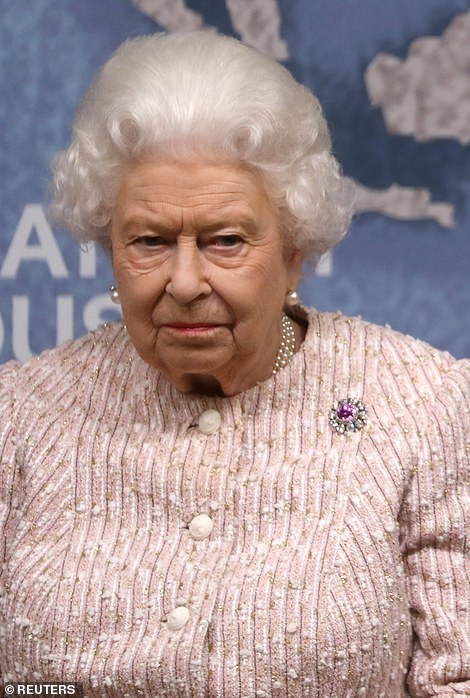 The Queen was serious at a Chatham House award event in London last night