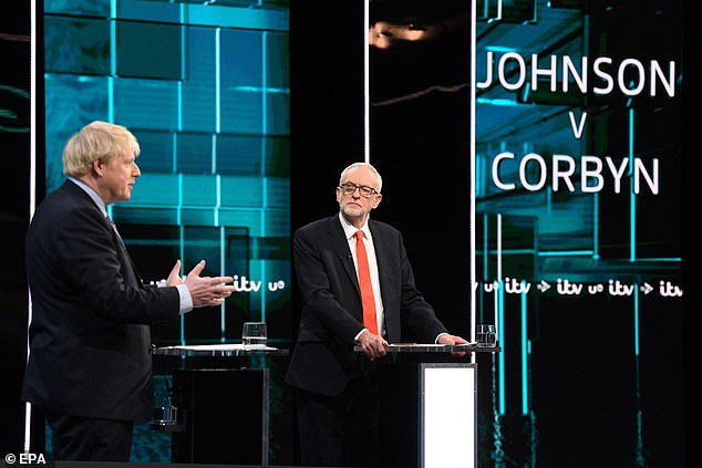 Julie Etchingham, who was chairing the debate, put the question to party leaders Jeremy Corbyn and Boris Johnson (pictured), in a move that sent shockwaves through the palace