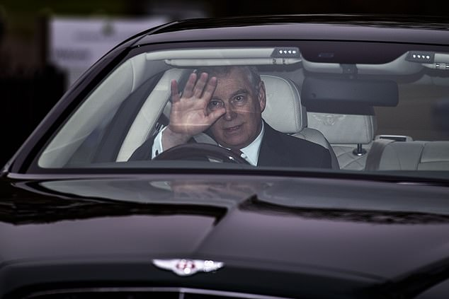 Prince Andrew has been forced to step down from his pet Pitch@Palace event. He is pictured leaving his home in Windsor yesterday