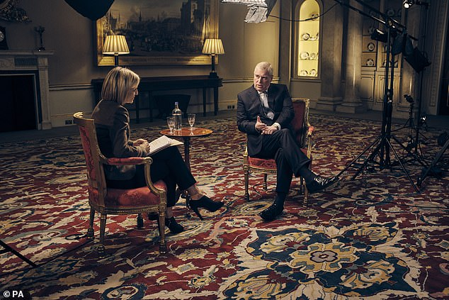 The Duke of York speaks to BBC Newsnight's Emily Maitlis in an interview shown on Saturday