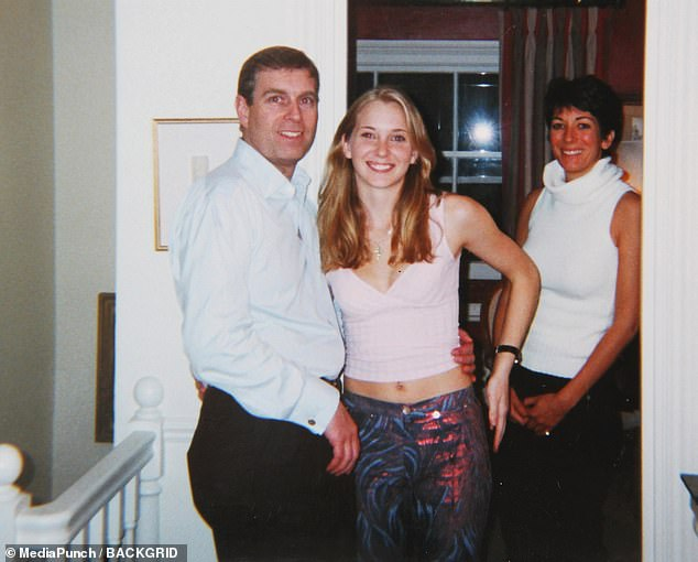 Ms Roberts, who claims she was sex trafficked by disgraced financier Jeffrey Epstein into sleeping with the Duke of York (shown together) on three occasions, will speak out on Monday