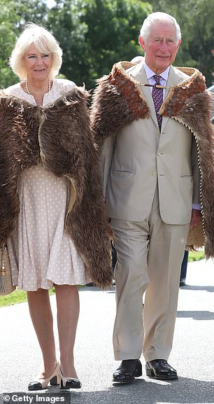 Charles (pictured, in New Zealand with Camilla on Thursday) urged the Queen to have Andrew step down from royal duties