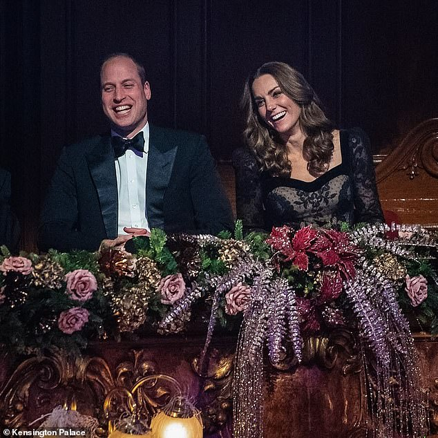 Rocking with laughter:The London Palladium was filled with laughter as stand-up comics took to the stage last night - and William and Kate were delighted to join in on the fun. The couple were once again mirroring each other, Judi said, suggesting a shared sense of fun