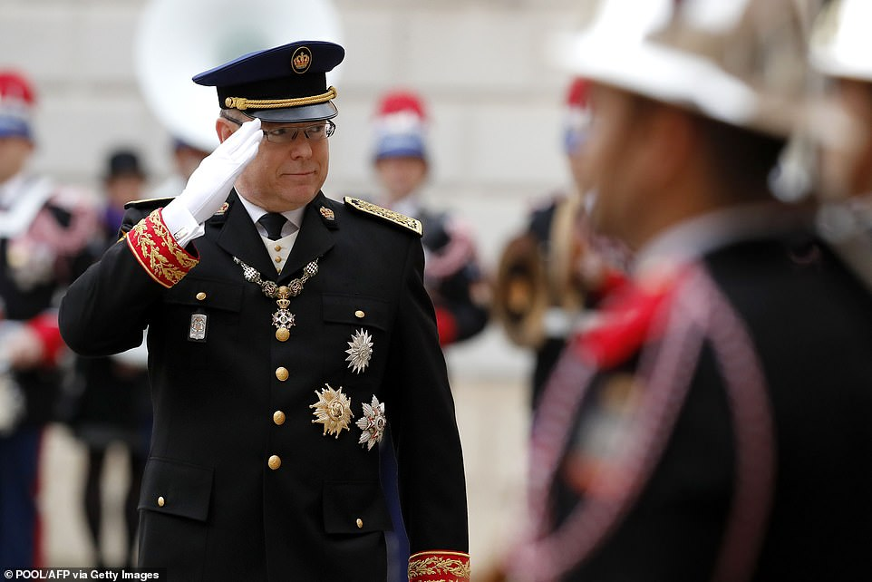 Prince Albert of Monaco attends the celebrations marking Monaco's National Day at the Monaco Palace