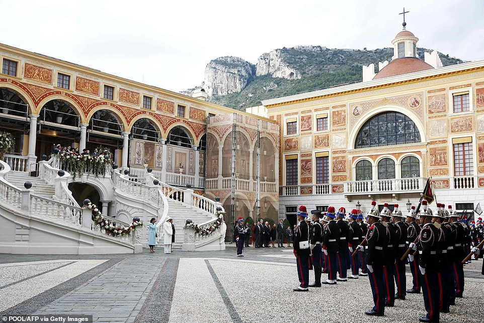 The celebrations marking Monaco's National Day at the Monaco Palace in Monaco