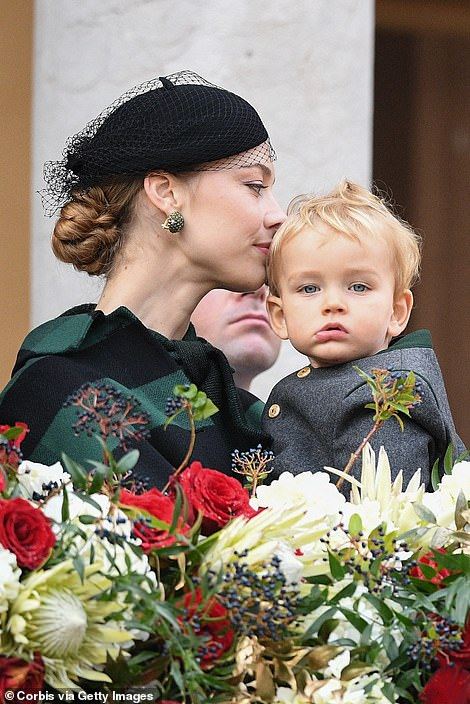 Beatrice Casiraghi and her son Francesco