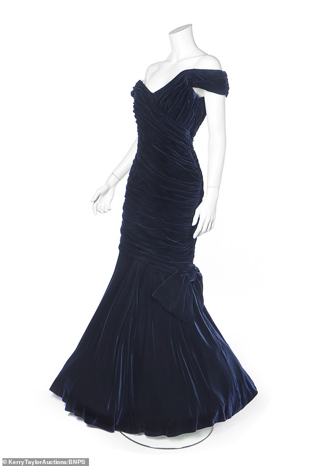 The blue dress Princess Diana wore when she famously danced with John Travolta at the White House has emerged for sale for £350,000