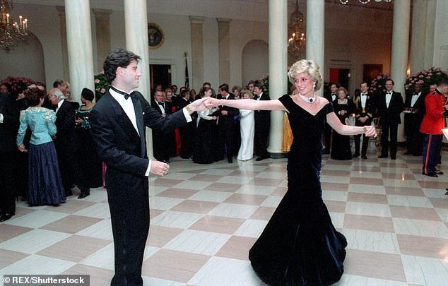 The Princess of Wales wowed the great and the good of Hollywood when she wore the Victor Edelstein blue velvet evening gown at the state dinner in 1985