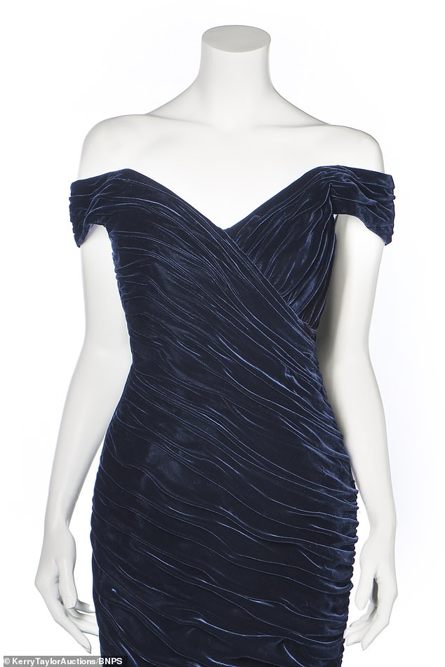 Diana saw this model in his studio in burgundy and requested it be made for her in midnight blue