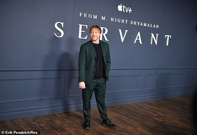 Handsome: Rupert attended theServant TV show premiere in New York City on Thursday, he playsJulian Pearce in theApple TV+ psychological horror series