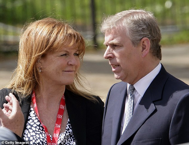 Last month the Duchess of York spoke out on her ex-husband's ties to the disgraced billionaire Jeffrey Epstein for the first time, insisting she will support Prince Andrew amid the engulfing scandal (Andrew and Sarah Ferguson pictured in 2010)