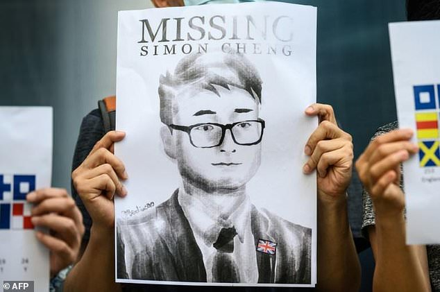 Demonstrators in Hong Kong have staged rallies to support Mr Cheng after he went missing