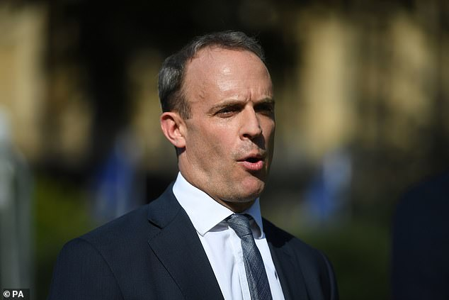 British Foreign Secretary Dominic Raab yesterday said Mr Cheng's allegations were credible