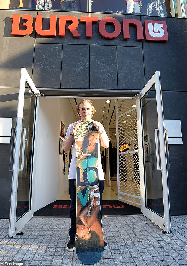 He was the founder of Burton Snowboards, an apparel company whose innovative designs captured the imagination of snowboarders worldwide. Carpenter is seen above at a Burton Snowboards flagship store in Tokyo in January 2010