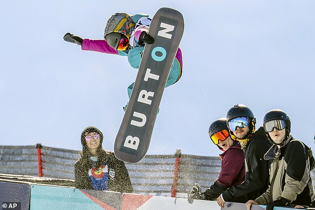 Burton's name is often plastered on apparel during large-scale snowboarding events. The image above shows Japanese snowboarder Haku Shimaski, 9, in action at the Burton US Open Snowboarding Championships in Vail, Colorado, in February