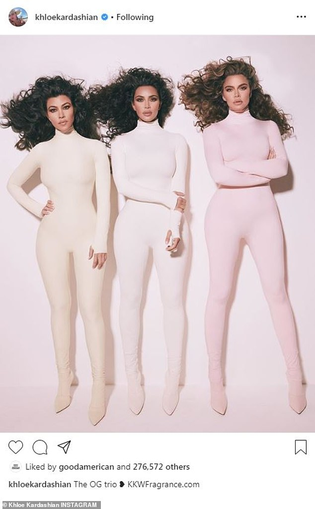 Making a point? After Kylie's historic business deal,Kylie's big sister Khloe Kardashian, 35, instead celebrated the 'OG trio' - the family's original Keeping Up With The Kardashians stars - herself and sisters Kourtney and Kim