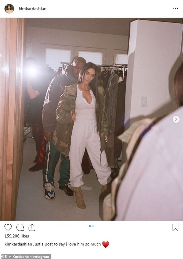 'I love him so much': Kim shared her love for husband Kanye West with this Instagram post