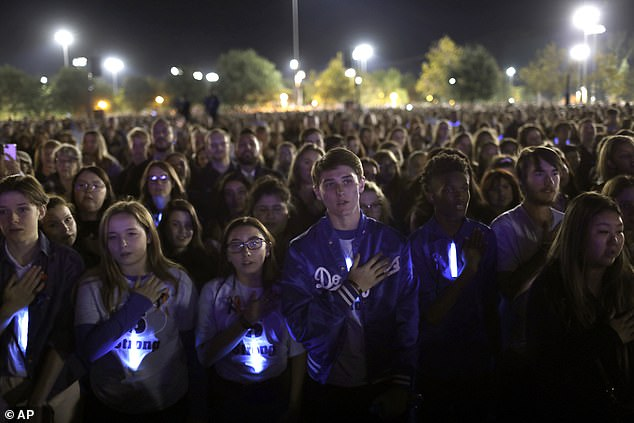 On Sunday, thousands gathered in Santa Clarita's Central Park for a vigil to honor the victims