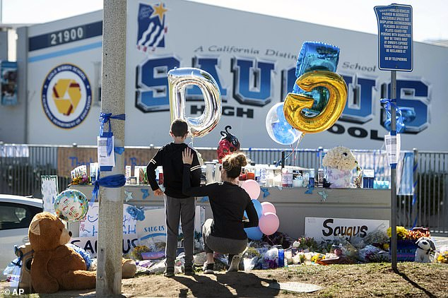 Students were allowed back on campus on Tuesday to collect there belongings left behind in the chaotic aftermath of the shooting
