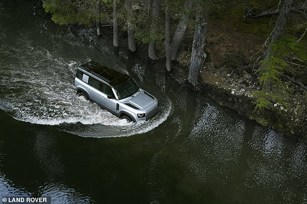 Flood-ready motors: The new car with the best wading depth isn't quite in showrooms yet - the £45,000 all-new Land Rover Defender