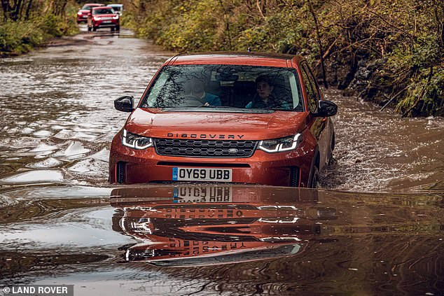 Another popular family-friendly car with above-average water resistance is the Land Rover Discovery Sport. It should be good for waters up to 600mm
