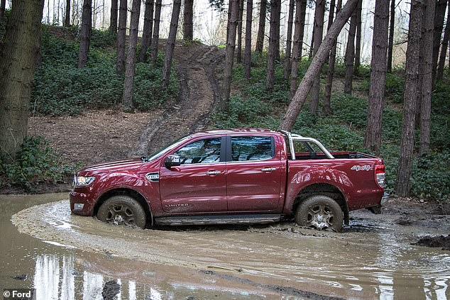 The Ford Raptor pick-up truck can seat up to five as it's a twin-cab model. It can wade through waters up to 700mm