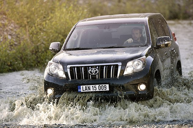 The durableToyota Land Cruiser, which is available new from £40,995, is a reliable flood-zone motor with 700mm of recommended water clearance