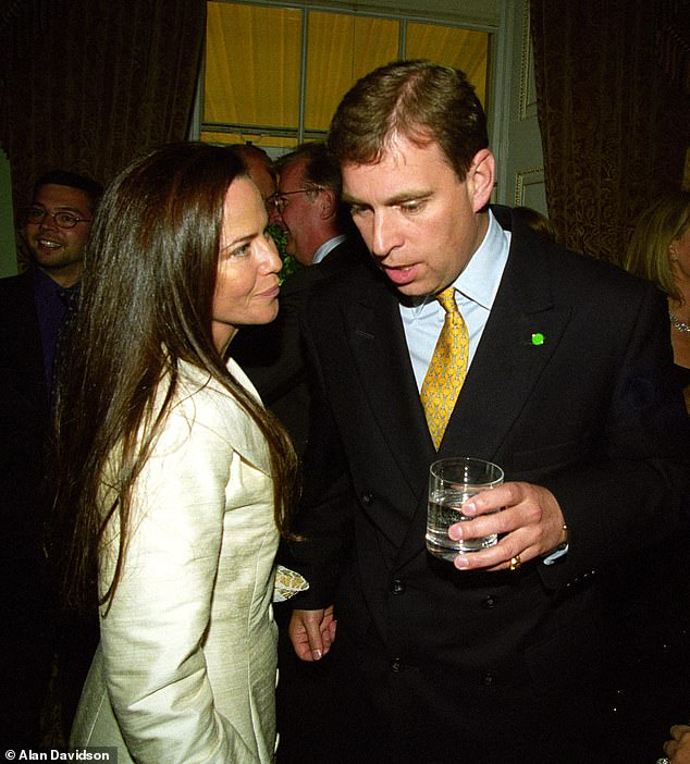 THE PRINCE AND THE PORN STAR: Prince Andrew at a party with Koo Stark in 1999