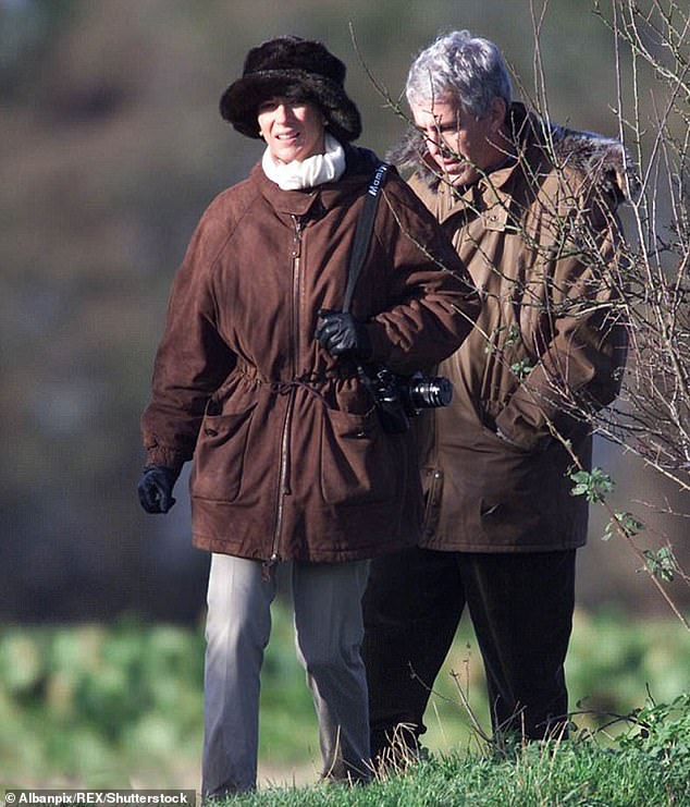 INVITATION TO EVIL:Epstein and Ghislaine Maxwell after Andrew invited them to a Sandringham shoot in 2000