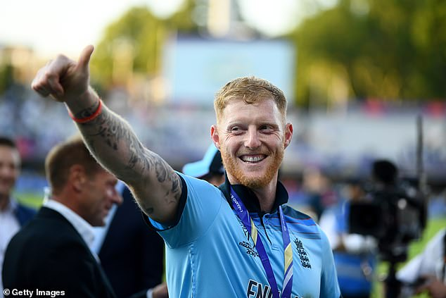 He gives a thumbs up after guiding England to success in a nail-biting Super Over at Lord's