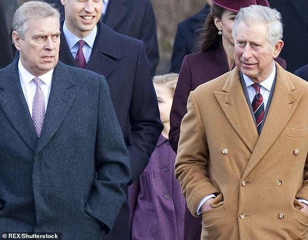 For some years Charles has made no secret that when he comes to the throne he foresees a slimmed down monarchy with fewer members, albeit one that is more in touch with modern life. Pictured: Prince Andrew and Prince Charles at Sandringham for the Christmas Day church service in 2011